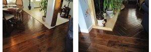 Armstrong Century Estates Amber Tuscan Installation with Herringbone Design